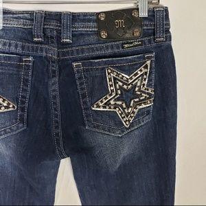 Miss Me Dark Blue DENIM Embellished Jeans 31